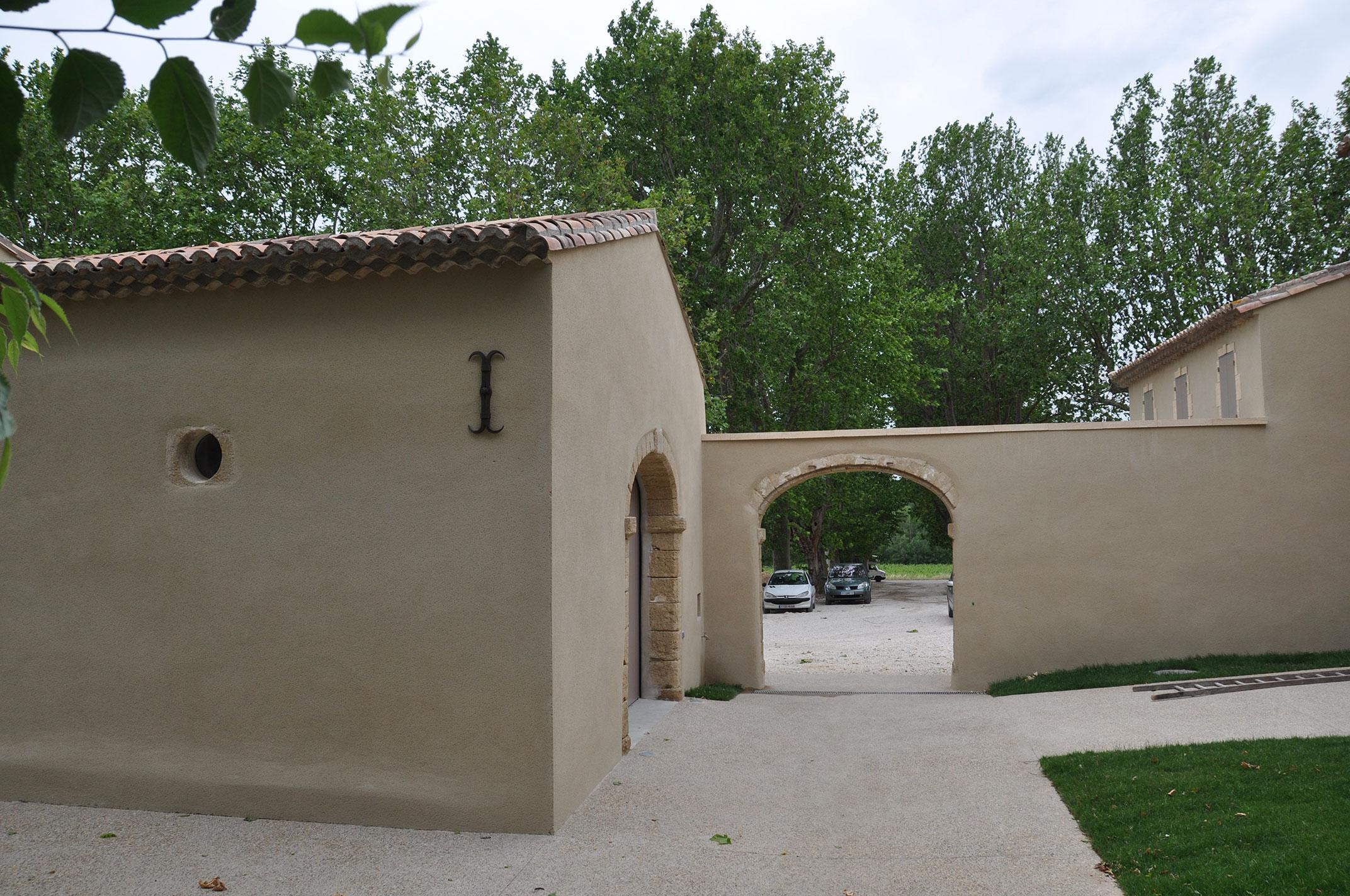Rénovation d'un domaine viticole